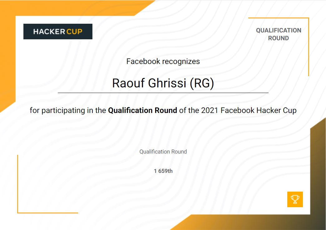 raouf ghrissi fb hacker cup certif